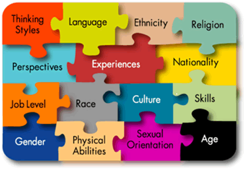 Image of the components of diversity and inclusion