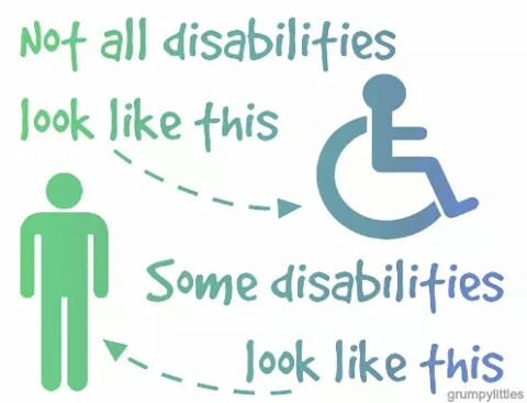 Image of invisible disabilities and visible disabilities